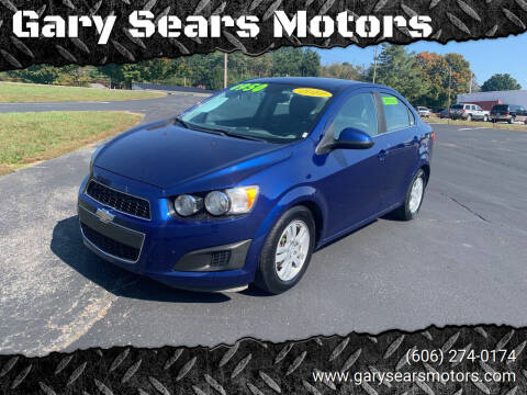 2012 Chevrolet Sonic for sale at Gary Sears Motors in Somerset KY