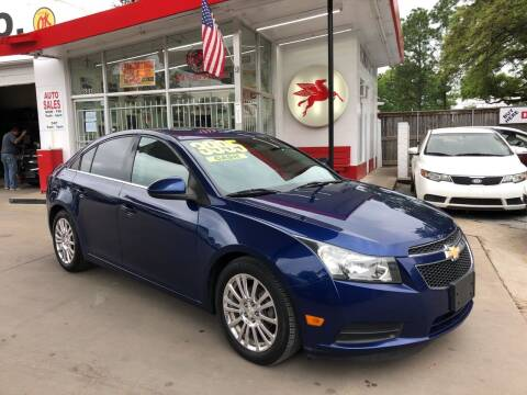 2012 Chevrolet Cruze for sale at Richmond Car Co in Richmond TX
