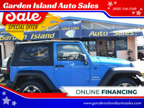 2012 Jeep Wrangler for sale at Garden Island Auto Sales in Lihue HI