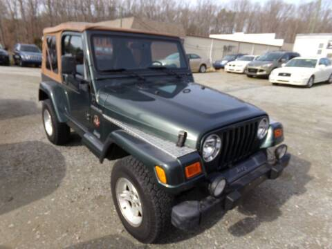 2002 Jeep Wrangler for sale at West End Auto Sales LLC in Richmond VA