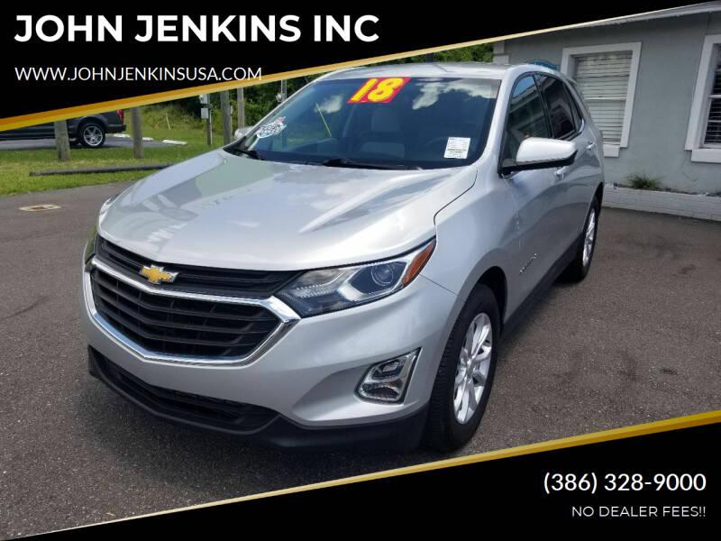 2018 Chevrolet Equinox for sale at JOHN JENKINS INC in Palatka FL