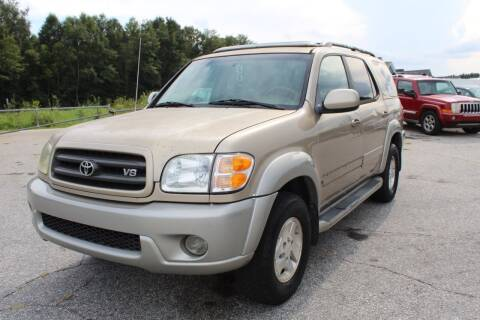 2003 Toyota Sequoia for sale at UpCountry Motors in Taylors SC