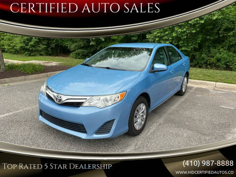 2012 Toyota Camry for sale at CERTIFIED AUTO SALES in Severn MD