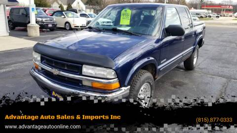 2001 Chevrolet S-10 for sale at Advantage Auto Sales & Imports Inc in Loves Park IL