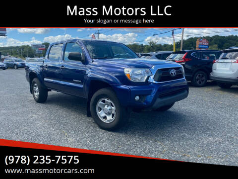 2015 Toyota Tacoma for sale at Mass Motors LLC in Worcester MA