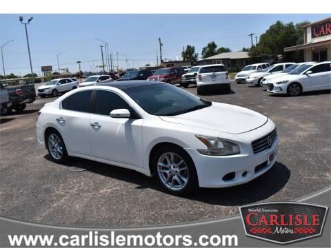 2010 Nissan Maxima for sale at Carlisle Motors in Lubbock TX
