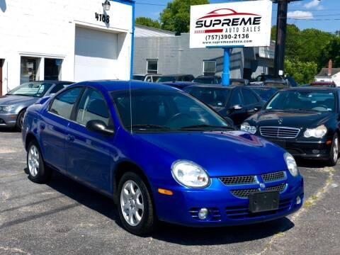 2004 Dodge Neon for sale at Supreme Auto Sales in Chesapeake VA