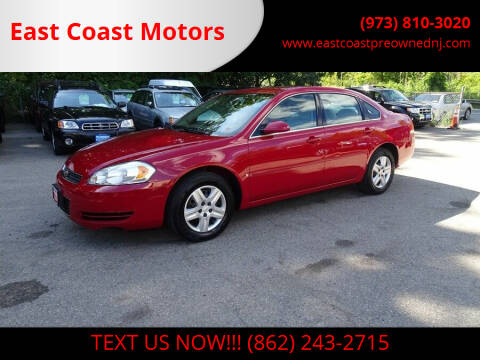 2007 Chevrolet Impala for sale at East Coast Motors in Lake Hopatcong NJ