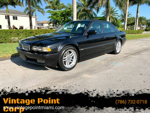 2001 BMW 7 Series for sale at Vintage Point Corp in Miami FL