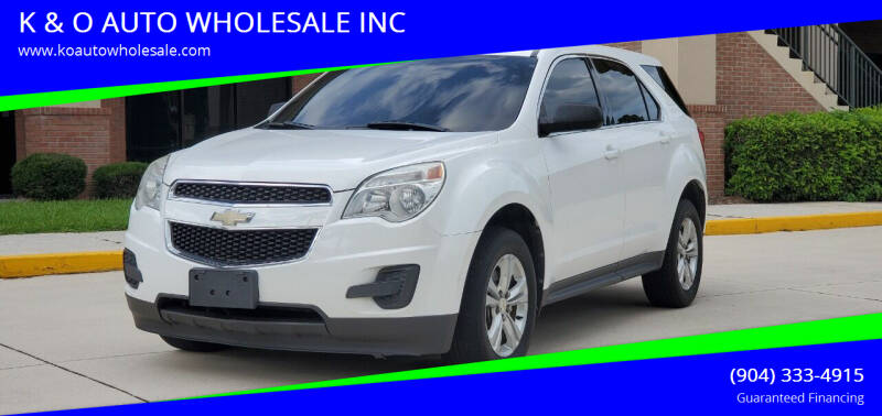 2010 Chevrolet Equinox for sale at K & O AUTO WHOLESALE INC in Jacksonville FL