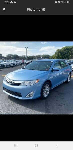 2012 Toyota Camry for sale at Cad Auto Sales Inc in Miami FL