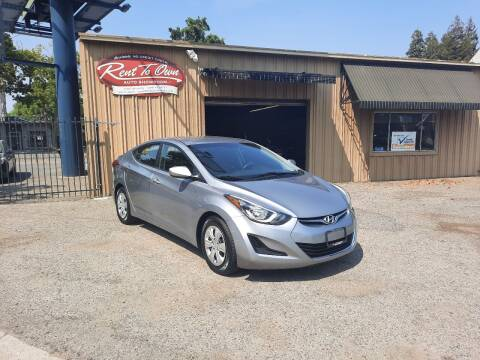 2016 Hyundai Elantra for sale at Rent To Own Auto Showroom LLC - Finance Inventory in Modesto CA