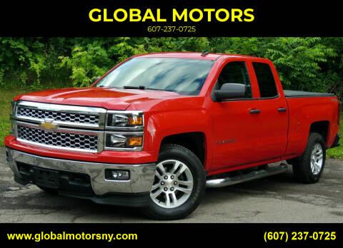 2014 Chevrolet Silverado 1500 for sale at GLOBAL MOTORS in Binghamton NY