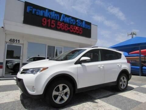 2015 Toyota RAV4 for sale at Franklin Auto Sales in El Paso TX