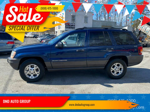 2001 Jeep Grand Cherokee for sale at DND AUTO GROUP in Belvidere NJ
