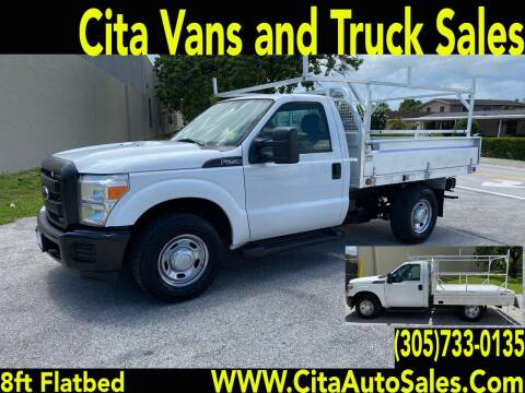 2012 FORD F250 SD 8 FT ALUMINUM *FLATBED* for sale at Cita Auto Sales in Medley FL