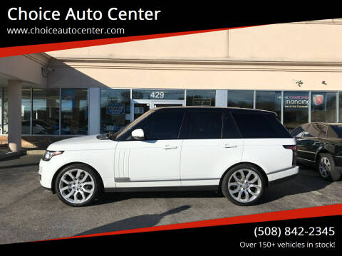 2016 Land Rover Range Rover for sale at Choice Auto Center in Shrewsbury MA