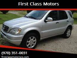 1999 Mercedes-Benz M-Class for sale at First Class Motors in Greeley CO