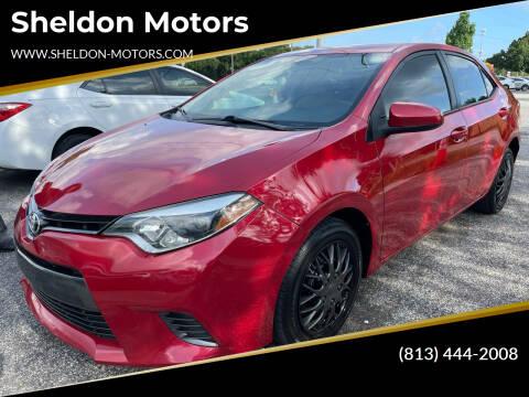 2016 Toyota Corolla for sale at Sheldon Motors in Tampa FL