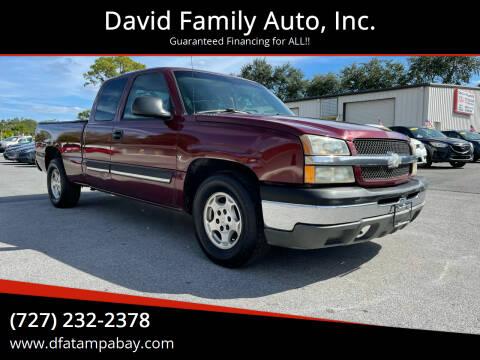 2003 Chevrolet Silverado 1500 for sale at David Family Auto, Inc. in New Port Richey FL
