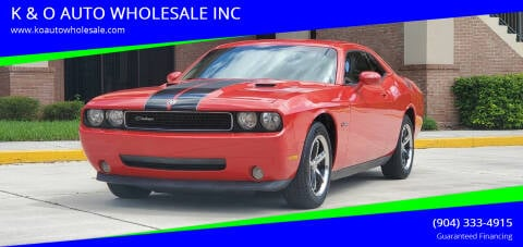 2010 Dodge Challenger for sale at K & O AUTO WHOLESALE INC in Jacksonville FL