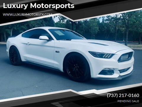 2017 Ford Mustang for sale at Luxury Motorsports in Austin TX