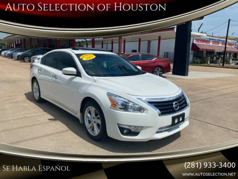 2015 Nissan Altima for sale at Auto Selection of Houston in Houston TX