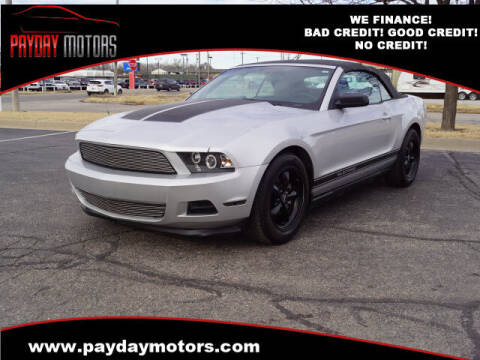 2012 Ford Mustang for sale at Payday Motors in Wichita KS