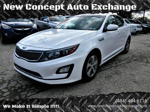 2014 Kia Optima Hybrid for sale at New Concept Auto Exchange in Glenolden PA