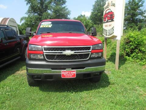 2006 Chevrolet Silverado 2500HD for sale at Knauff & Sons Motor Sales in New Vienna OH