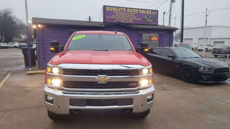 2016 Chevrolet Silverado 2500HD for sale at Quality Auto Sales LLC in Garland TX