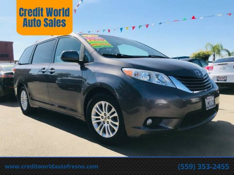 2012 Toyota Sienna for sale at Credit World Auto Sales in Fresno CA