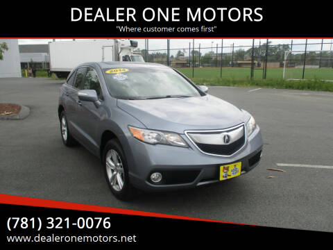 2014 Acura RDX for sale at DEALER ONE MOTORS in Malden MA