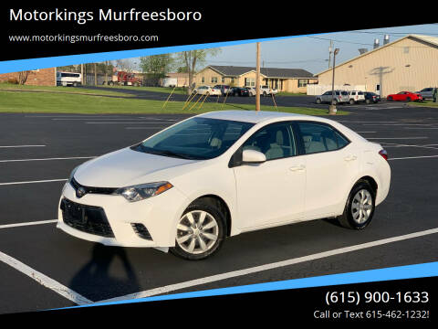 2015 Toyota Corolla for sale at Motorkings Murfreesboro in Murfreesboro TN