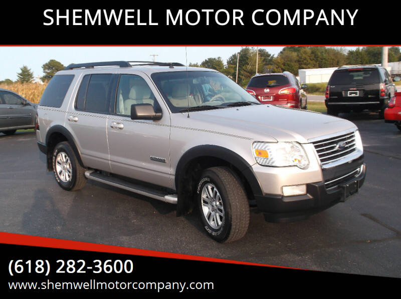 2007 Ford Explorer for sale at SHEMWELL MOTOR COMPANY in Red Bud IL