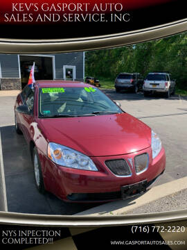 2005 Pontiac G6 for sale at KEV'S GASPORT AUTO SALES AND SERVICE, INC in Gasport NY