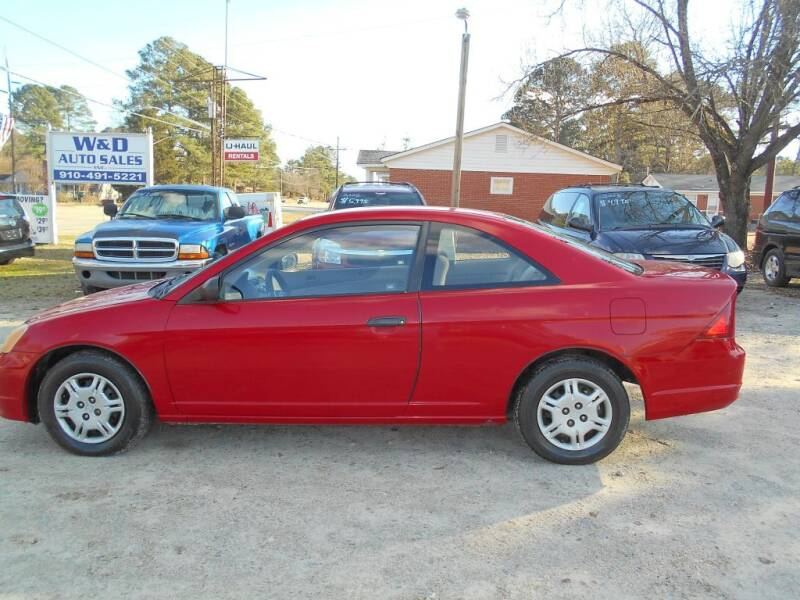 2001 Honda Civic for sale at W & D Auto Sales in Fayetteville NC