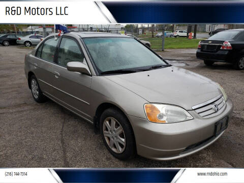2003 Honda Civic for sale at R&D Motors LLC in Cleveland OH