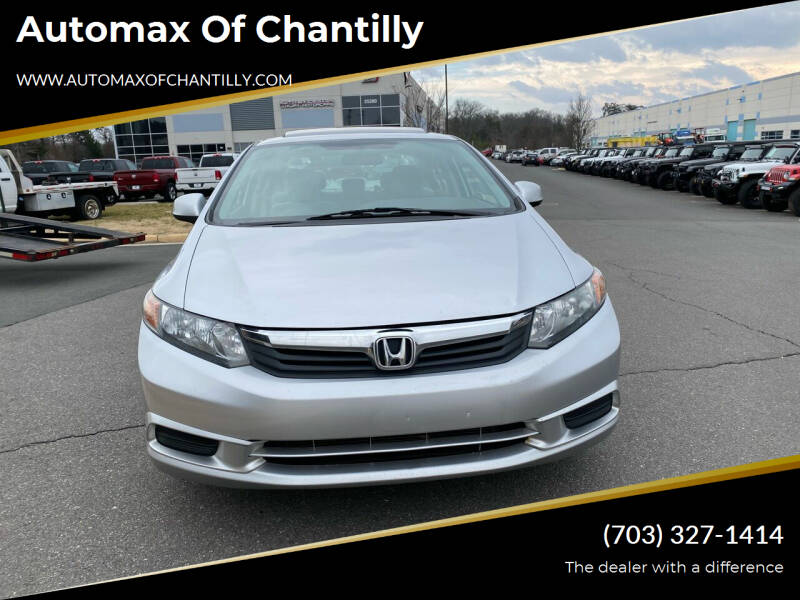 2012 Honda Civic for sale at Automax of Chantilly in Chantilly VA
