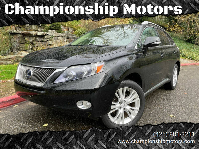 2011 Lexus RX 450h for sale at Championship Motors in Redmond WA