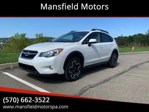 2015 Subaru XV Crosstrek for sale at Mansfield Motors in Mansfield PA