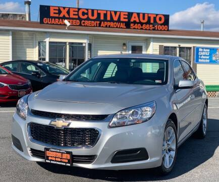 2015 Chevrolet Malibu for sale at Executive Auto in Winchester VA