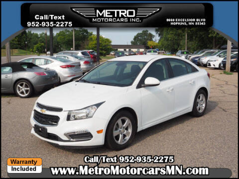 2016 Chevrolet Cruze Limited for sale at Metro Motorcars Inc in Hopkins MN