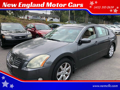 2004 Nissan Maxima for sale at New England Motor Cars in Springfield MA