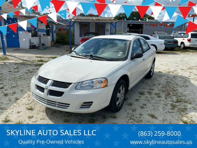 2005 Dodge Stratus for sale at SKYLINE AUTO SALES LLC in Winter Haven FL