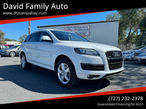 2014 Audi Q7 for sale at David Family Auto in New Port Richey FL
