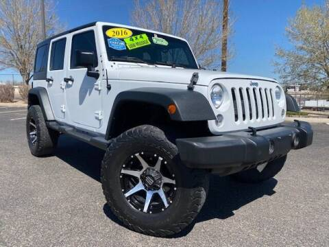 2016 Jeep Wrangler Unlimited for sale at UNITED Automotive in Denver CO