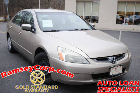 2003 Honda Accord for sale at Ramsey Corp. in West Milford NJ