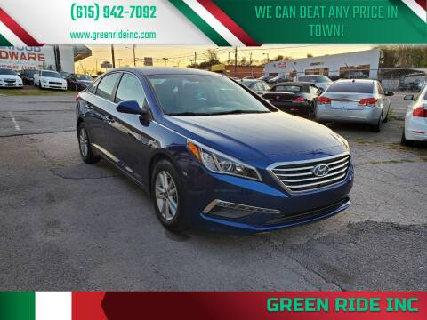 2015 Hyundai Sonata for sale at Green Ride Inc in Nashville TN