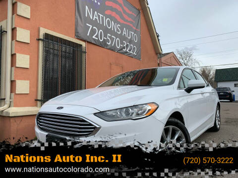 2017 Ford Fusion for sale at Nations Auto Inc. II in Denver CO